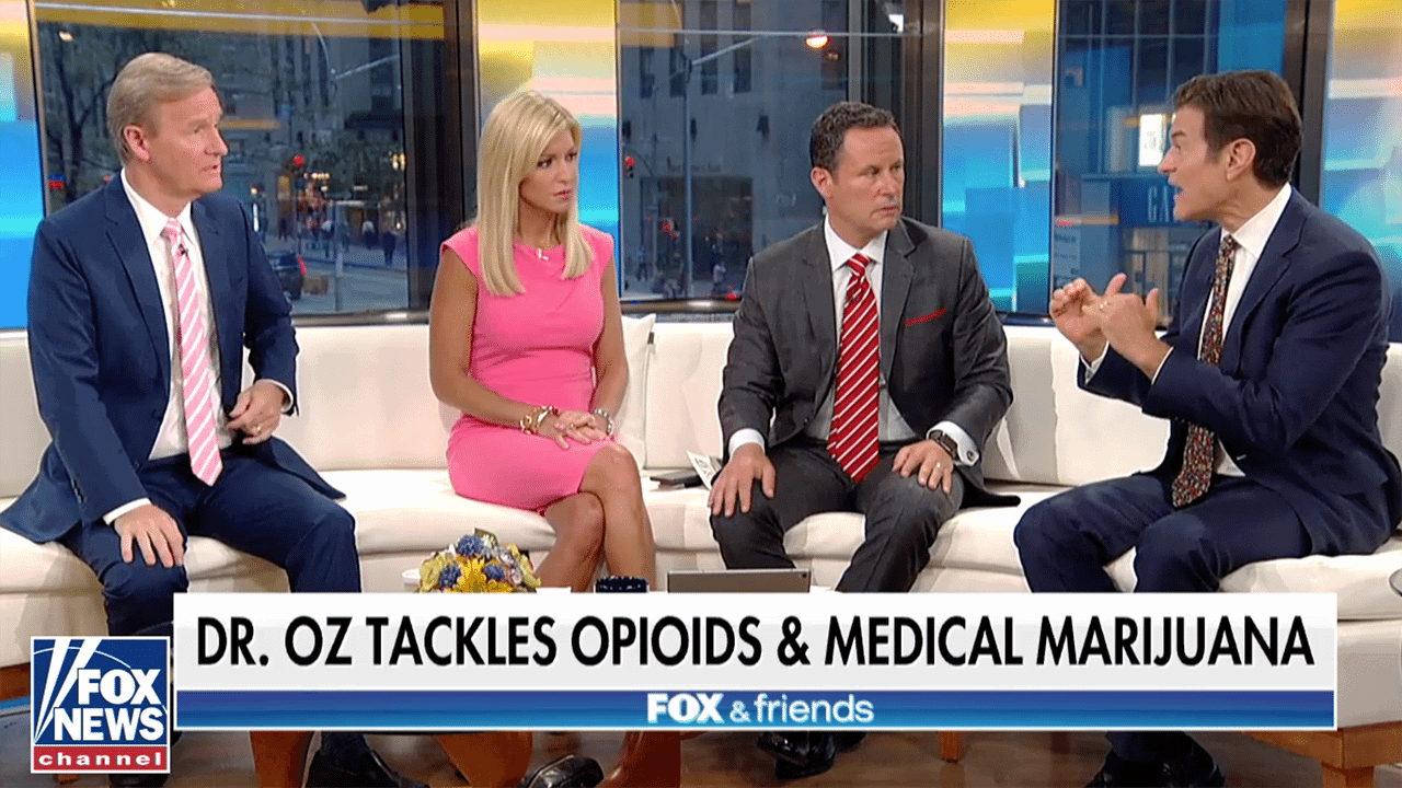 Dr. Oz Defends MMJ on Fox News Saying Could be an Exit Drug for the Opioid Crisis in Medical Marijuana States and states that legalized recreational weed