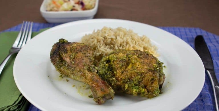 Weed Recipes: Chicken With Very Green Sauce