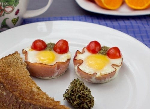 Weed Recipes: Baked Ham and Egg Cups