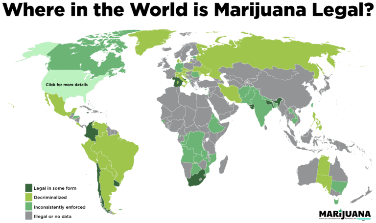 Legal Weed Locations Around The World