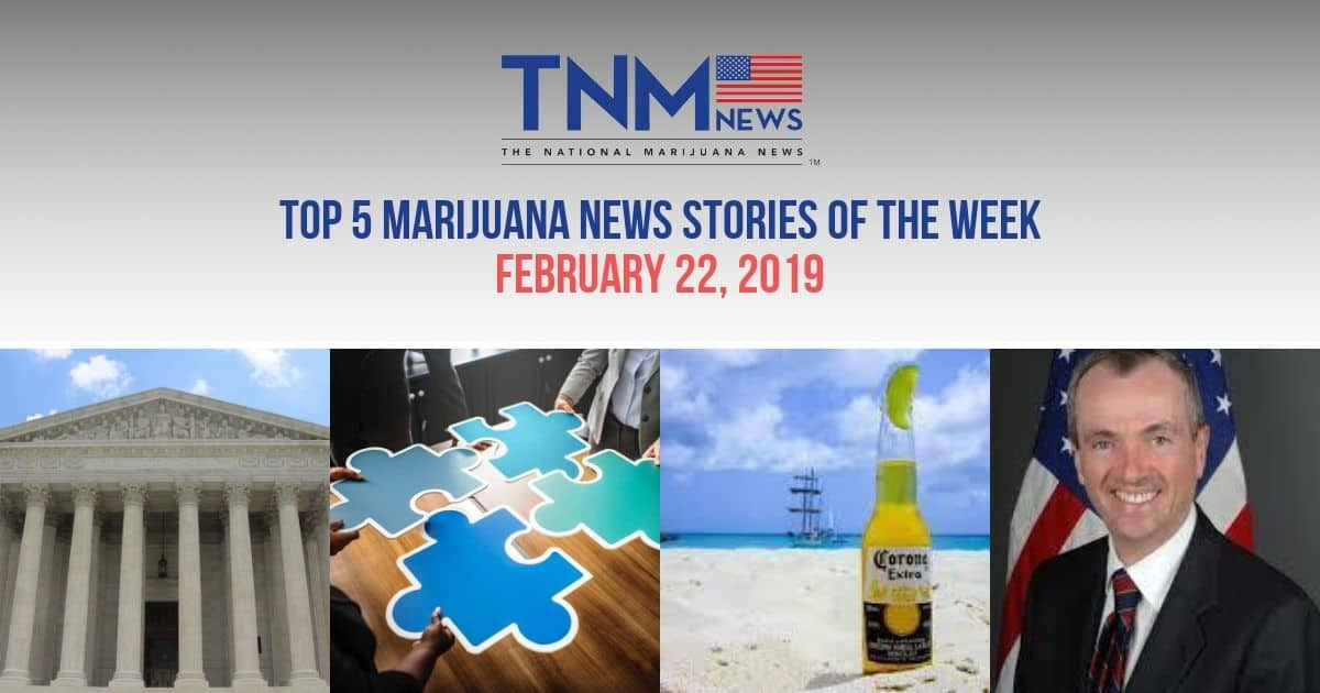 The top 5 trending marijuana news stories of the weed for February 22, 2019