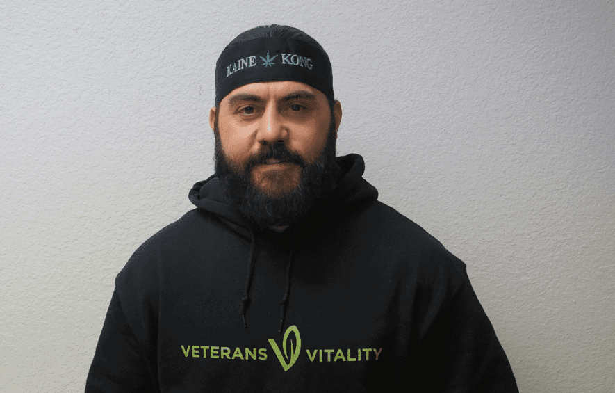 veteran kaine marzola with ptsd and founder of veterans vitality