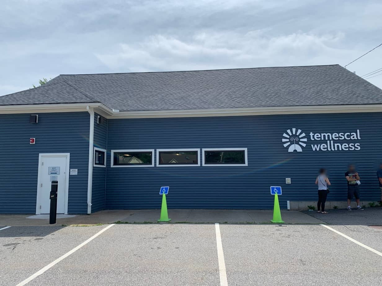 Temescal Wellness is located in Hudson, Massachusetts and sells recreational marijuana legally.