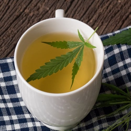 Cannabis tea ready to drink