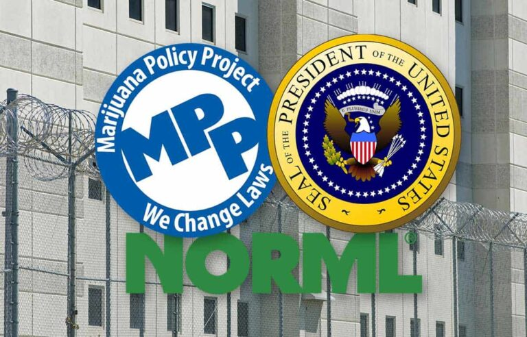 MPP logo NORML logo Presidential Seal