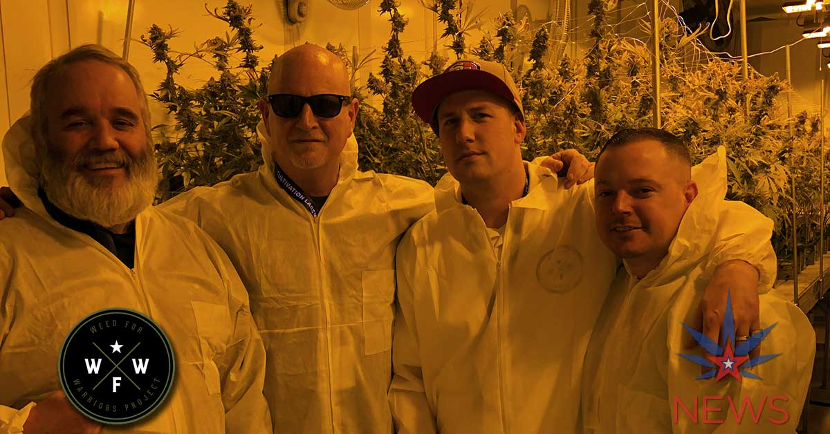 Weed For Warriors Group in Grow Room